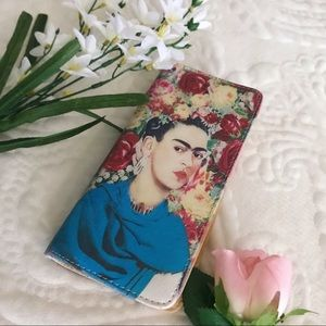 💐Unique Colorful Floral Frida Kahlo Zip Wallet🌹